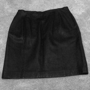 Ralph Lauren Black Leather Mini Skirt